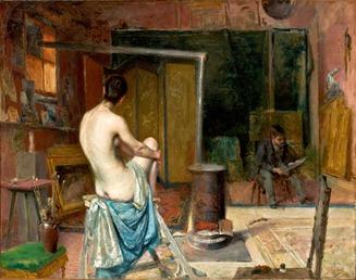 """O atelier do artista"" de José Malhoa (1893)"