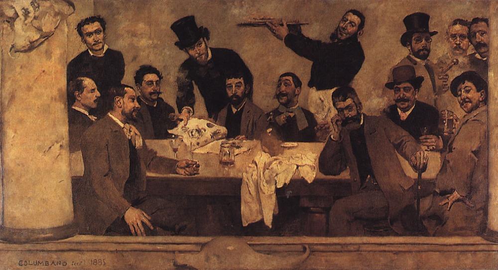 """""""O grupo do leão"""" De Columbano Bordalo Pinheiro (1885)"""