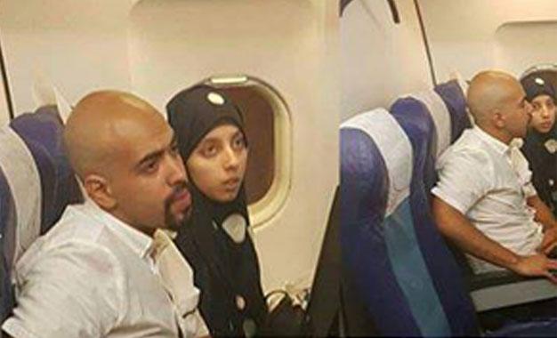 Anouar Bayoudh e a sua esposa Farah.