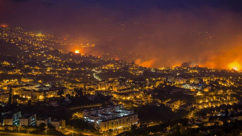 Incêndios na Madeira. Foto: Lusa