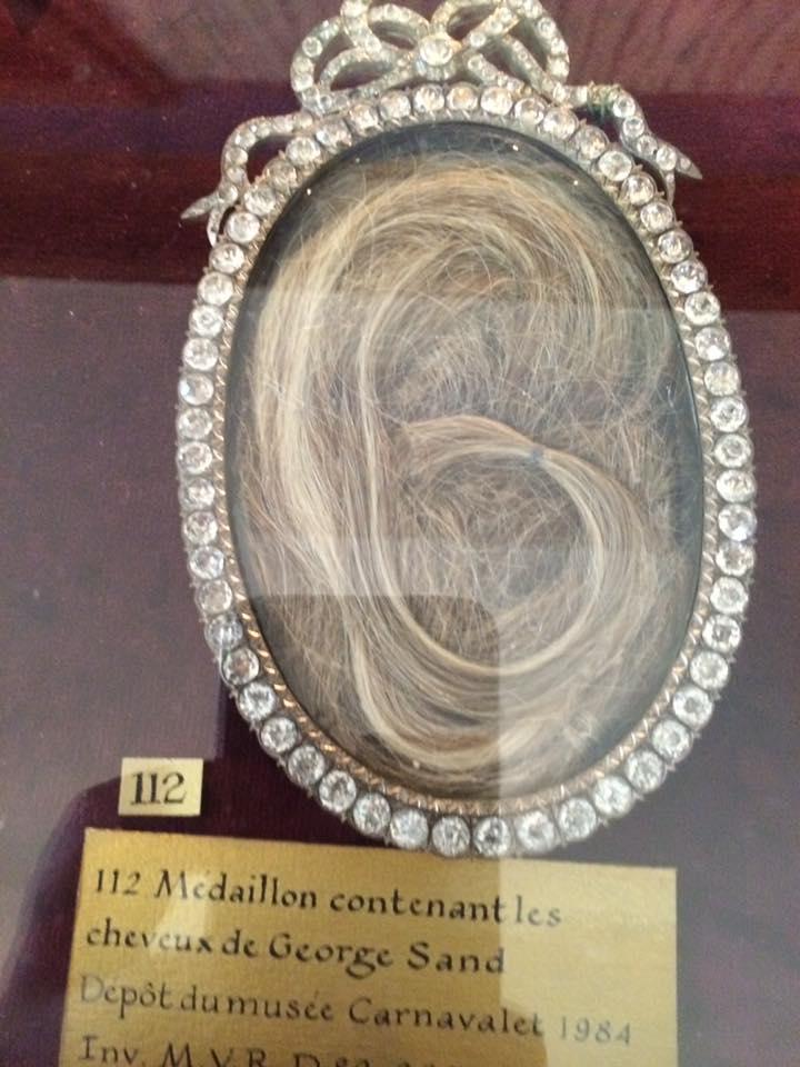 Les cheveux de George Sand (Musée de la vie romantique a Paris)